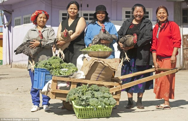 The senior ladies of the Chana family show what it takes just to make a meal